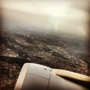 Flying over the UK