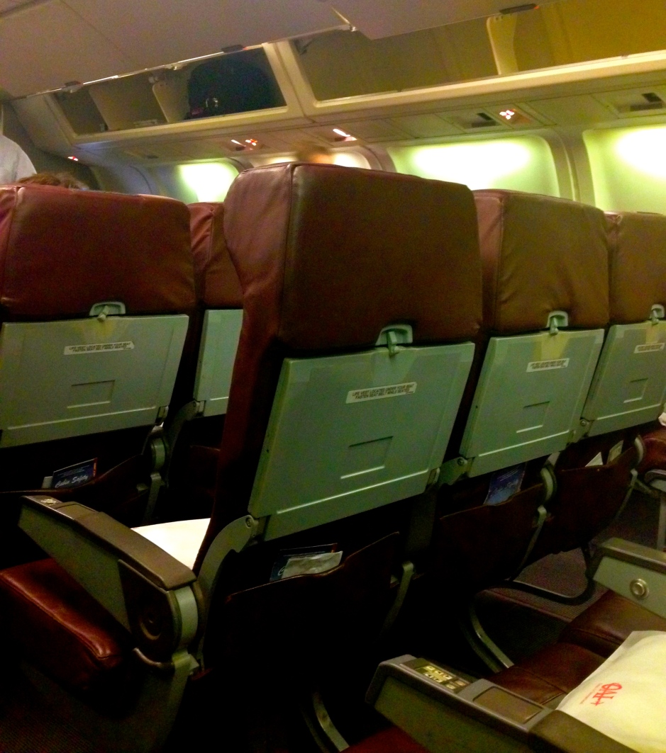 OAI Airlines, complete with filthy armrests & clearly designed in the 70's.