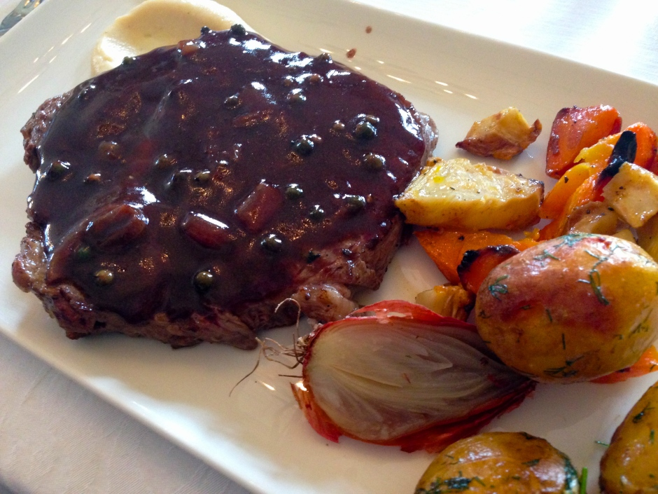 Steak: TBEX menu Ghan House Carlingford, Ireland