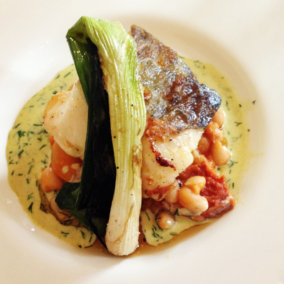 Fish: TBEX menu Ghan House, Carlingford Ireland