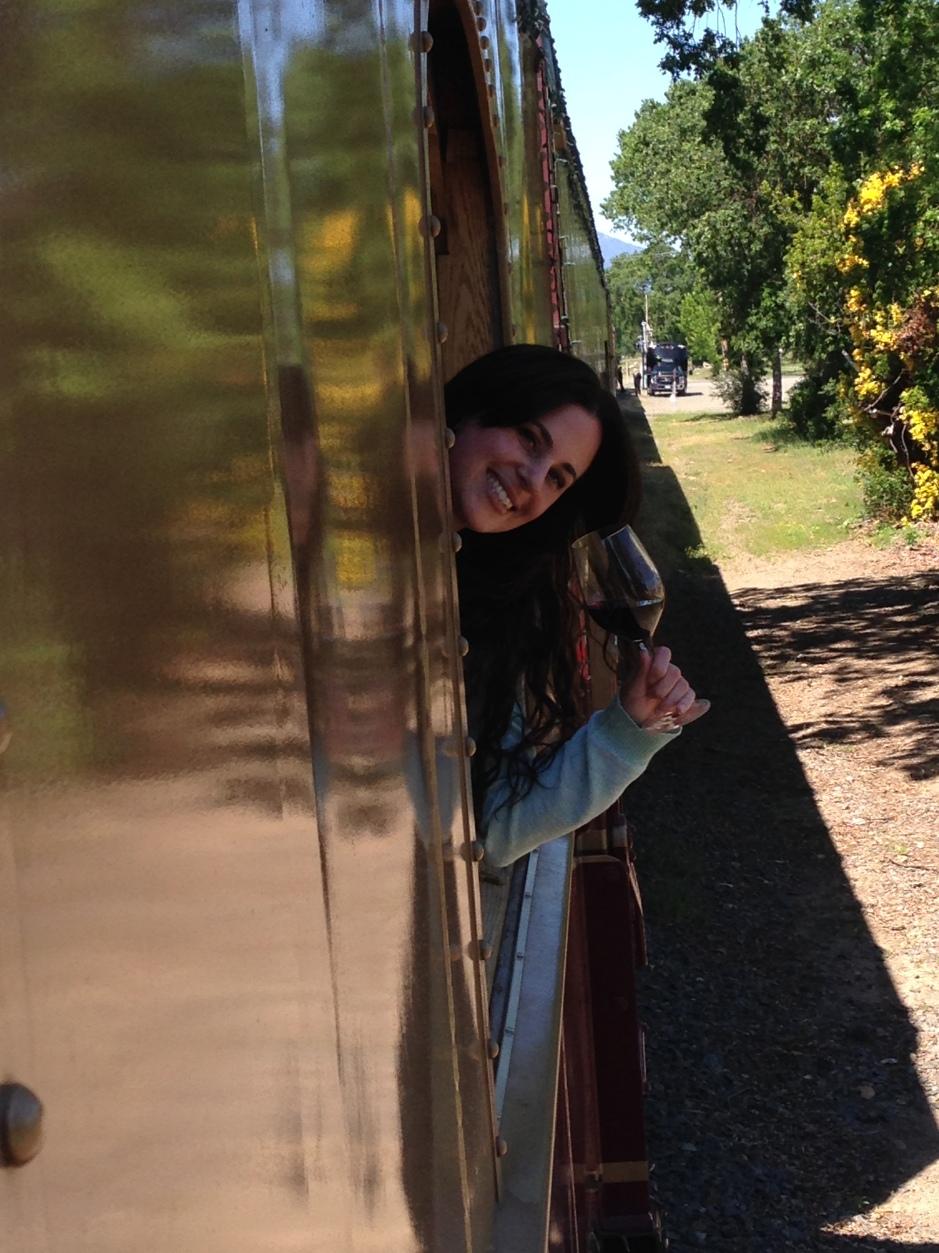 Me on Wine Train